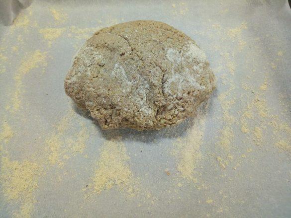 Cauliflower and buckwheat flour crust pizza